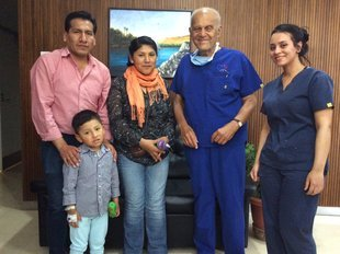 First child from Bolivia treated by Chain of Hope