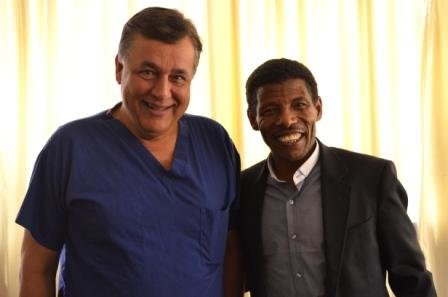 Haile Gebrselassie joins Hasnat Khan on cardiac mission in Ethiopia