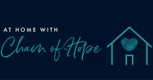 At home with chain of hope logo